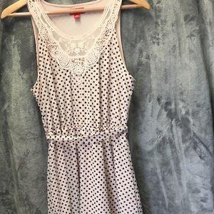 Elle Black and Pink Polka Dot Dress